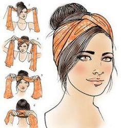 Turban how-to for Latina Magazine More Tap the link now to find the hottest products for Better Beauty! Turban how-to for Latina Magazine More Tap the link now to find the hottest products for Better Beauty! Comment Porter Un Bandana, Curly Hair Styles, Natural Hair Styles, Hair Scarf Styles, Hair Styles With Bandanas, Hair Wrap Scarf, Hair Headband Styles, Bandana Styles, Hair Bandanas