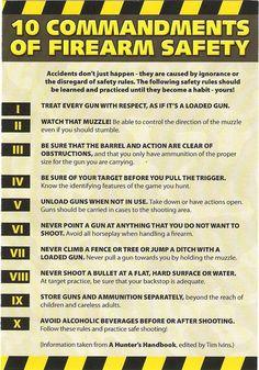 10 commandments of Firearm safety  Haha
