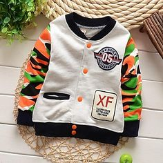 Boy's+Cotton+Blend+Jacket+&+Coat+,+Winter/Spring/Fall+Long+Sleeve+–+USD+$+12.99