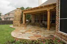 Pergola Terrasse Eclairage - Pergola Lighting Solar - Pergola De Hierro Cerradas - - - White Pergola With Shade Backyard Covered Patios, Backyard Patio, Backyard Landscaping, Backyard Ideas, Patio Ideas, Landscaping Ideas, Porch Ideas, Flagstone Patio, Concrete Patio