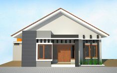 The post Desain Rumah Sederhana appeared first on Arcadia Desain. House Front Design, Small House Design, Dream Home Design, Modern House Design, 3d House Plans, Bungalow House Plans, Modern House Plans, House 2, Minimalist House Design