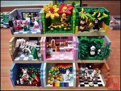 LEGO Minifigures 'Suit Guy' Habitats (by Agnes Choi)   Flickr