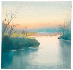Morning Blush, Watercolor by Betsy Jacaruso