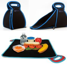 This awesome lunchbox ($30) turns into a placemat. You can also toss it into your washing machine to wash!