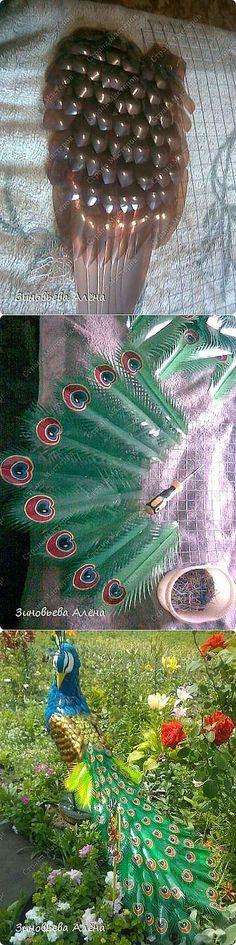 Райская птичка для вашего сада.. Из пластиковых бутылок.