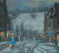 Henry Kondracki Christmas Shopping Oil on canvas W:142cm H:127cm Paintings - The Scottish Gallery, Edinburgh - Contemporary Art Since 1842