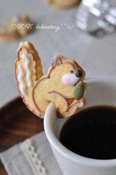 Cute squirrel cookie.  :)