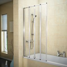 Browse the Haro 4 Fold Bath Screen. An ideal way to add some extra style and functionality to the bathroom. Now available at Victorian Plumbing.co.uk.