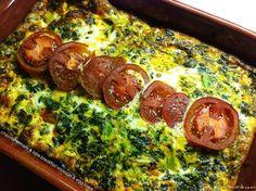 Chipotle tomato & kale breakfast sausage egg bake #Healthilinguist