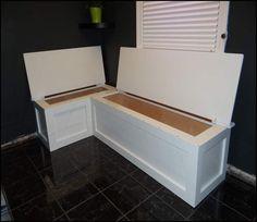 L Shaped Banquette Bench