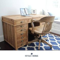 PRINTERS Recycled Wood Study Desk Style My Home Sydney Australia Hamptons Industrial Country