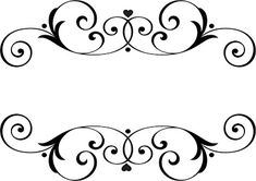 Names Wedding Ornaments. Stencil Patterns, Stencil Designs, Embroidery Patterns, Borders For Paper, Borders And Frames, Wedding Ornament, Border Design, Vinyl Projects, Cricut Design