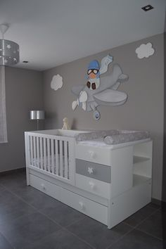 99 Modern Baby Room Themes Design Ideas - Baby Bed , 99 Modern Baby Room Themes Design Ideas - Nautical baby bedding will send your baby to sleep dreaming of his future sailing adventures. Baby Room Themes, Baby Boy Rooms, Baby Bedroom, Baby Room Decor, Baby Boy Nurseries, Baby Cribs, Nursery Room, Kids Bedroom, Nursery Ideas