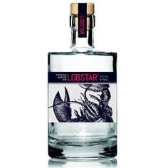 Lobster Gin is Here for Your Crustaceous Cocktail Needs: Out of the bisque and into the booze—a Belgian chef has created a lobster-infused gin to pair with your summer lobster feasts. Alcohol Bottles, Gin Bottles, Vodka Bottle, Water Bottle, Whisky, Whiskey Cocktails, Cocktail Drinks, Bourbon Old Fashioned, Le Gin