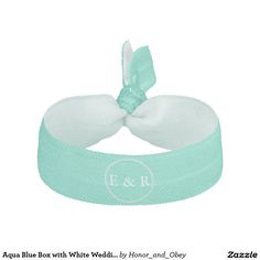 Aqua Blue Box with White Wedding Detail