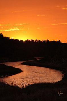 Orange Sunset in Nebraska - RAA_D004503