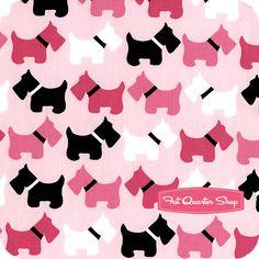 Urban Zoologie Pink Scottie Dogs Yardage SKU# 11511-10 - Fat Quarter Shop