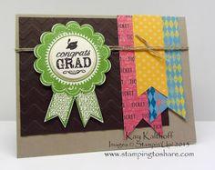 Stamping to Share, Stampin' Up!, Kay Kalthoff, Blue Ribbon, Graduation Card