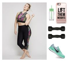 """Fitness Junkie- #fitness #plussize"" by cabaretgypc on Polyvore featuring Livi Active, Casetify, Casall and NIKE"