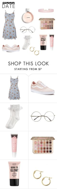 """Untitled #29"" by dadnapper ❤ liked on Polyvore featuring Topshop, Vans, Monsoon, Too Faced Cosmetics, NYX, Lord & Taylor and Humble Chic"