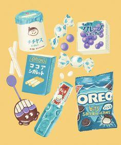 Cute Food Drawings, Cute Kawaii Drawings, Cute Food Art, Cute Art, Kawaii Stickers, Cute Stickers, Aesthetic Art, Aesthetic Anime, Wow Art