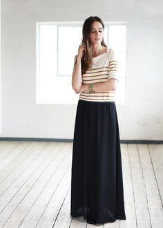 Sézane / Morgane Sézalory - Portobello maxi-skirt #sezane #portobello