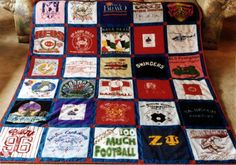 T-shirt quilt. We did it. We love it.