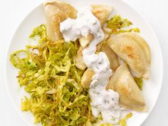 Pierogi with Curried Cabbage #FNMag #MeatlessMonday