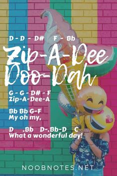 music notes for newbies: Zip-A-Dee-Doo-Dah – Song of the South (Disney). Play popular songs and traditional music with note letters for easy fun beginner instrument practice - great for flute, piccolo, recorder, piano and Piano Sheet Music Letters, Flute Sheet Music, Piano Music, Fun Music, Music Sheets, Disney Songs, Disney Music, Disney Play, Disney Quotes