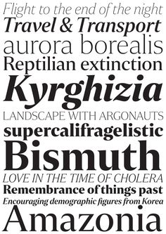 Newspaper Typeface Family | Newspaper Articles Texts Typography Font Design  | Award-winning Typefaces | D&AD