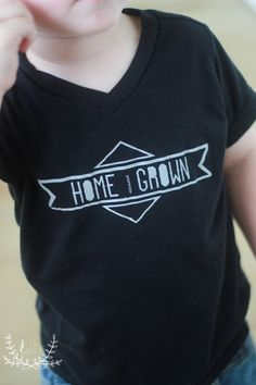 Tiny Honey Home Grown Black Tee
