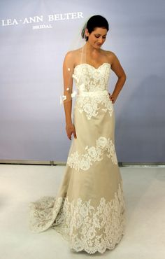 Lea-Ann Belter's Spring 2012 collection  Greta--  Tried on and loved and Lovely Bridal