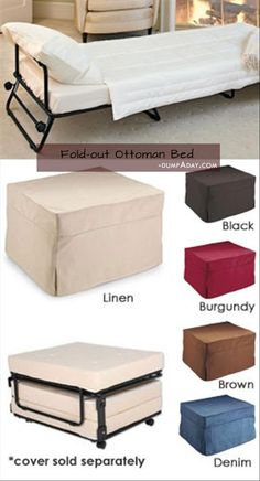 Dump A Day Simple Ideas That Are Borderline Genius - 42 Pics ottoman to guest bed -  Wonder how well this works and feels?  could be handy in a tiny house if you have space for the ottoman.