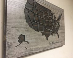 United States Wall Art travel wall decor, adventure map, wooden us map, wood wall art
