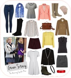 Character Style Inspiration - Gwen Stacy (The Amazing Spider-Man) Movie Inspired Outfits, Gwen Stacy, Fandom Fashion, Emma Stone, Amazing Spider, Capsule Wardrobe, Spiderman, Style Inspiration, My Style