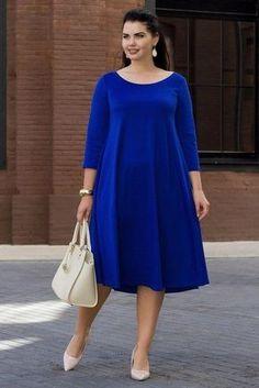 Plus size outfits Simple Dresses, Plus Size Dresses, Plus Size Outfits, Nice Dresses, Casual Dresses, Curvy Fashion, Modest Fashion, Plus Size Fashion, Girl Fashion