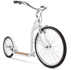 "Adult Scooter Kick Bike Schwinn Shuffle with 26"" Wheels, White, 16""/Small #Schwinn"