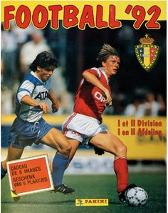 Football België - Belgique 1992 Afdeling - Division I & II Panini Stickers Album - Cover www.paninishop.be