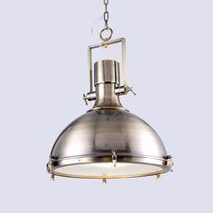 Brunswick - Antique brass steel pendant lamp