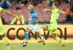 Lorenzo Insigne of Napoli in action  during the Serie A match between SSC Napoli and Bologna FC at Stadio San Paolo on September 17, 2016 in Naples, Italy. #Krafth