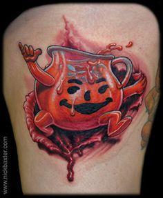 Kool-Aid man tattoo