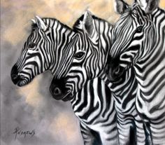 Zebra Crossing Painting by Rae Andrews - Zebra Crossing Fine Art Prints and Posters for Sale