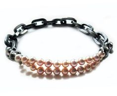"""Nolia Shakti Necklace: Pink Boy II, 2009 Iron, pink pearls, tin, silver, magnet Collection """"Sexuality"""""""
