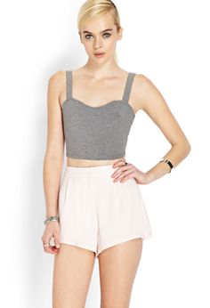 Soft Woven Pleated Shorts   FOREVER21 - 2000106616