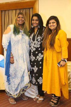 Anusha Srinivsan Iyer, Nandini Viswanathan and Sakshi Singh at the Majaz success party