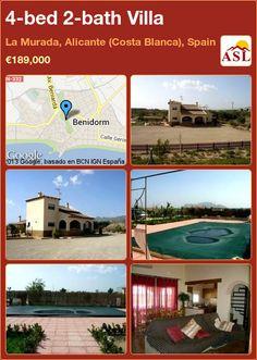 4-bed 2-bath Villa in La Murada, Alicante (Costa Blanca), Spain ►€189,000 #PropertyForSaleInSpain