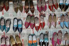 tiny shoes made from paper, Lucknow, India 2008 Photo by Stephanie Suhowatsky