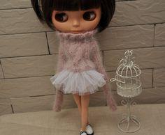 Babydoll TUTU Skirt  for Blythe-white.