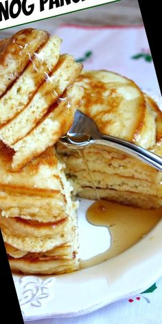 Sharing an easy recipe for Eggnog Pancakes. Photographs included.#Pancake #Recipe Pancake Recipe For One 47+ Eggnog Pancakes   Pancake Recipe For One No Egg   2020 Eggnog Recipe, Pancakes Easy, Recipe From Scratch, Meals For One, French Toast, Easy Meals, Photographs, Eggs, Breakfast