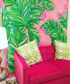 "Lilly Pulitzer has at all times been about a colorful, happy, resort frame of mind. ""She has always been about a colorful, happy, resort state of mind. Lilly pulitzer was created for the ent… Palm Beach Decor, Tropical Home Decor, Asian Home Decor, Tropical Houses, Diy Home Decor, Room Decor, Tropical Interior, Tropical Colors, Lilly Pulitzer"